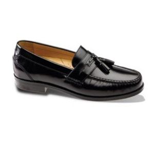 Chaps Black Loafers with Tassels
